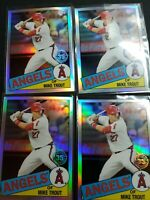 2020 Topps Chrome Mike Trout Lot (4) 35th Anniversary 1985 Design 85TC-1