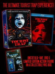 Tourist Trap UNCUT Blu-ray Box Set + Action Figure 70s Horror Movie NEW
