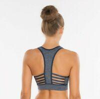 Padded Ribbon Racerback High Impact Seamless Sports Bra ActiveWear-Yoga-Workout