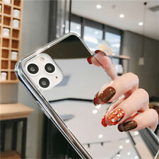 For iPhone 12 11 Pro XS Max 7 8 6 Plus X Mirror TPU Bumper Shockproof Case Cover