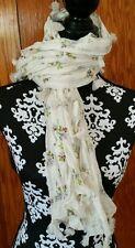 Ralph Lauren Denim Supply Floral Scarf Womens NWT Whisper Tassel Fringe NEW
