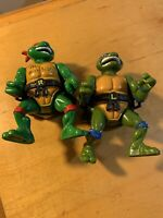 Teenage Mutant Ninja Turtles Raphael & leo  1991City Sewer Shell Playmates