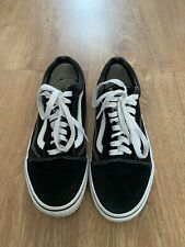 02 Vans Ladies Black & White Suede Trainers Size UK 6
