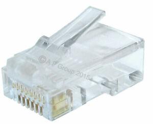 RJ45 Connector Network LAN CAT5e Patch Cable End Crimp Plug GOLD Pins RJ45 LOT