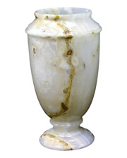 Nature Home Decor Luxury 13-Inch Tall White Onyx Decorative Vase