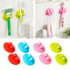 2PCS Vacuum Sucker For Kitchen Bathroom Wall Hook Hanger Holder Suction Cup