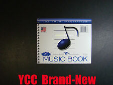 """Music Book  8 stave 24sheets 7"""" x 8.5"""""""