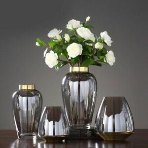 Nordic Glass Tabletop Vase Transparent Light Water Culture Living Room Decor