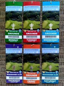 6 Unused TICKETS, 2007 89TH PGA CHAMPIONSHIP SOUTHERN HILLS TIGER WOODS WINNER