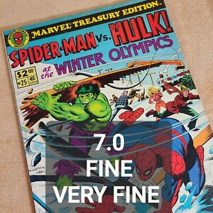 25 Marvel Treasury Edition Spider-Man vs Hulk at Winter Olympics 1980 Giant Size