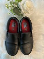 Skechers Black Shoes Work Women's Memory Foam Slip Resistant Loafer Slipon SZ 8