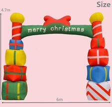 Giant Inflatable Christmas Arch with Gift Boxes for Opening Ceremony 6M ax