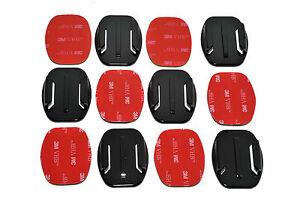 6x Flat Base 3M Adhesive Pad Mount Kit for GoPro HD Hero Camera 4 +3 3 2 1