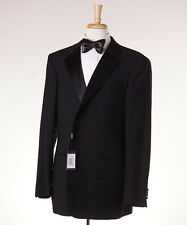 NWT $3795 GIORGIO ARMANI BLACK LABEL Satin-Trimmed Wool Tuxedo Slim 48 L Suit