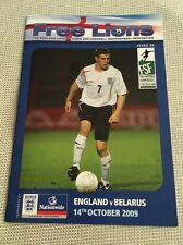 FREE Lions-Inghilterra V Bielorussia - 2010 WORLD CUP QUALIFICATORE 14.10.2009 - Issue 98