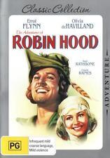 ADVENTURES OF ROBIN HOOD Errol Flynn Basil Rathbone NEW (Region 4 Australia)