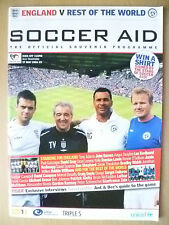 2006 Soccer Aid- ENGLAND v REST OF THE WORLD, Official Souvenir Progr (Org,Exc*)