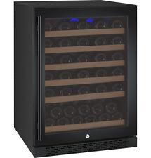 Allavino 56 Bottle Built-In Wine Cooler Refrigerator Cellar Black Glass Door