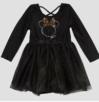 Disney Minnie Mouse Girls Black Dress Christmas Birthday Glitter Tutu 4T NWT