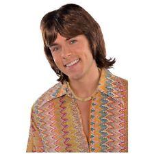 70's 1970s Disco Fever Hearthrob Wig Donny Osmond Mens Fancy Dress Costume