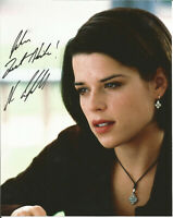 10 x 8  hand signed  photo NEVE CAMPBELL  - AFTAL COA  - dedicated