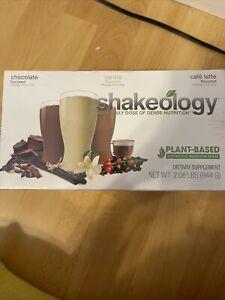 Shakeology  Vegan Latte, Choc, Vanilla 24 packets Sealed NewBox exp 09/21