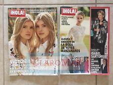 ☀Lot 2 Hola! Magazines Nov 2017 Revista Nicky Hilton Penelope Cruz Julio Iglesia