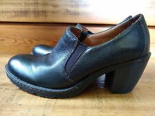 BOC Born Black Leather Boot Bootie Loafer Clog Women Size 8 - 8.5 M Heels Pumps
