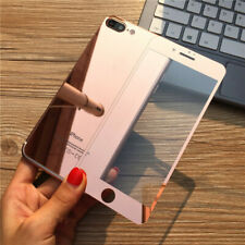 For iPhone 6/6S + Mirror Film Tempered Glass Screen Protector Full Decal Sticker