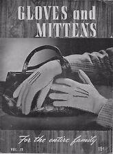 Bear Brand 19 Gloves Mittens Knitting Crochet Patterns Norwegian Family 1944