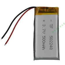 3.7V 500mAh Polymer Li Battery Lipo For GPS Bluetooth headset pen glasses 502248