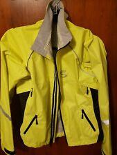 Showers Pass Rain Jacket Yellow Womens Medium Cycling Reflective Waterproof
