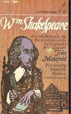 William Shakespeare by John Masefield (1964,Paperback)