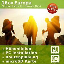 Europa V.18 - Profi Outdoor Topo Karte kompatibel zu Garmin Oregon 700, 700t