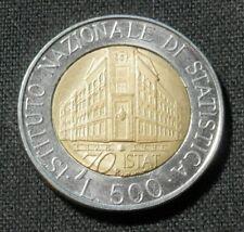 ITALY, UNC COIN, 500 LIRE 1996, KM# 181, INSTITUTO NAZIONALE DI STATISTICA 70th