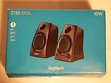 Logitech Z130 Compact Laptop Speakers with Auxiliary Port in Black, 980000417