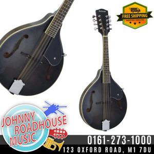 Ashbury AM-10 A Style Mandolin, Black
