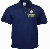 USS WAINWRIGHT  DLG-28/CG-28  NAVY EMBROIDERED LIGHT WEIGHT POLO SHIRT