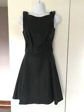 $128 NWT A|X ARMANI EXCHANGE Faux Vegan Leather FittedSkater Dress - Sz 0 XS
