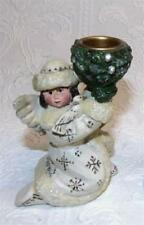 Pam Schifferl Winter White Angel w Dove Candle Holder Midwest Cannon Falls New