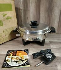 """WEST BEND LIQUID CORE #17884 STAINLESS STEEL ELECTRIC SKILLET 11.5"""" BRAND NEW"""
