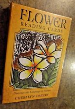 FLOWER READING CARDS BOOK by Cheralyn Darcey TAROT DECK ORACLE BOTANICAL CAT RsQ