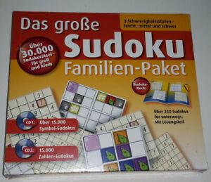 Das große Sudoku Familien-Paket Über 30.000 Sudokurätsel, Neu & OVP