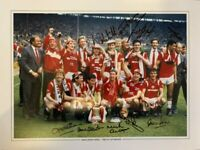 Multi Signed Manchester United 1985 FA Cup Winners Photo Whiteside Stapleton
