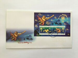 CIFD69) Christmas Island 2004 Year of the Monkey FDC