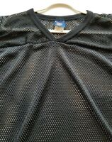 Rawling Football Adult Jersey Shirt XL Black Polyester Popover V Neck Game Day