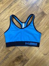 Women's Under Armour Sports Bra Top, Blue, Small