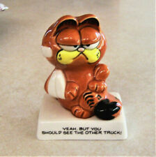 """Garfield """"Yeah, But You Should See The Other Truck!"""" Figurine Enesco"""