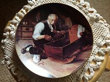 "Knowles Plate, Norman Rockwell, ""Grandpa's Gift"" With papers."
