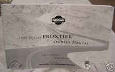 **NEW** 1999 Nissan Frontier Owners Manual 99